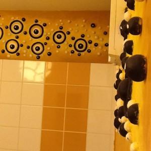 décors organique toilettes fresque bas relief  6