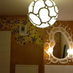 décors organique toilettes fresque bas relief  9
