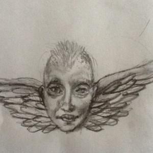 masque l'ange gardien croquis 1