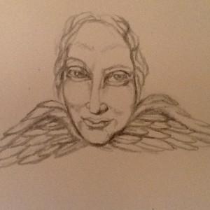 masque l'ange gardien croquis 2